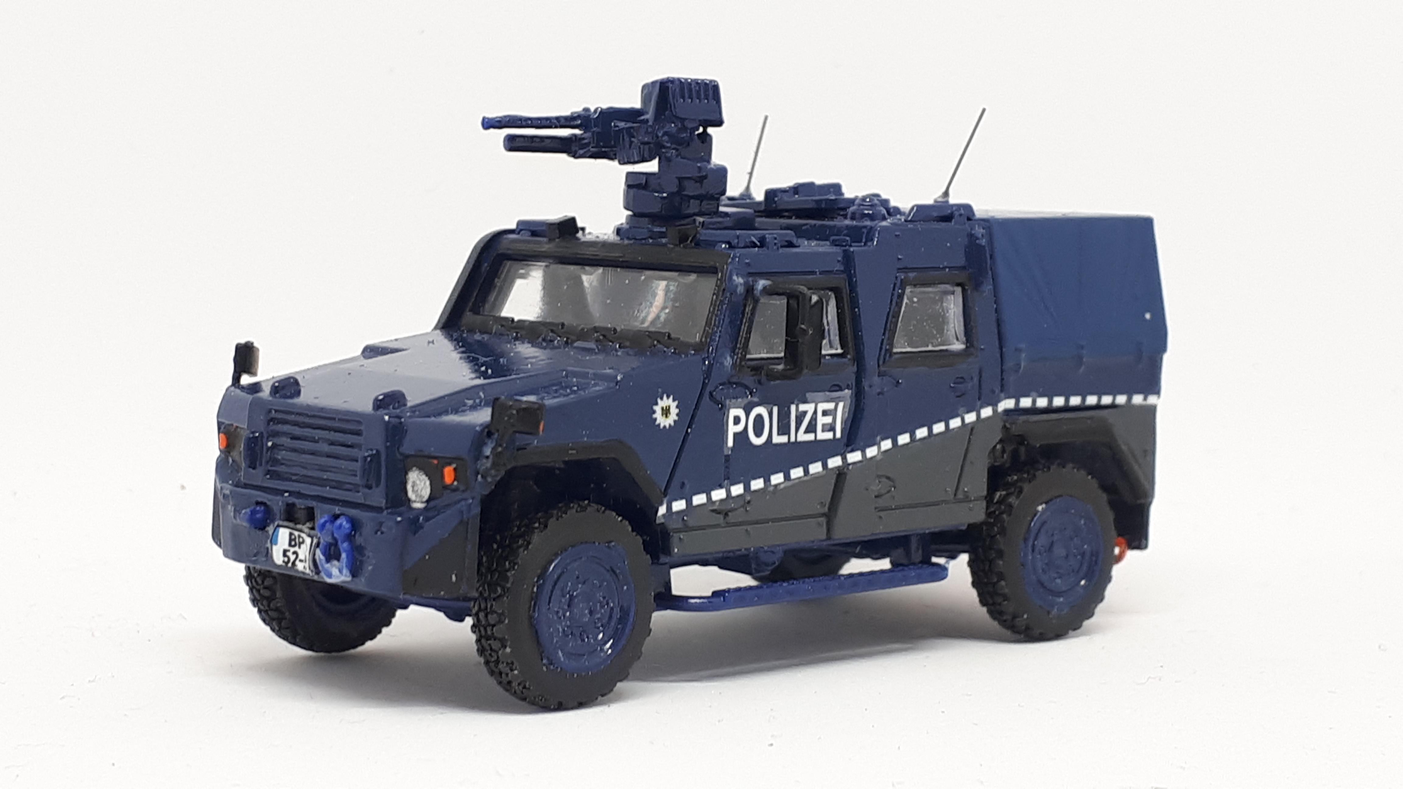MOWAG EAGLE IV geschützter Sonderwagen der Bundespolizei mit Waffenanlage